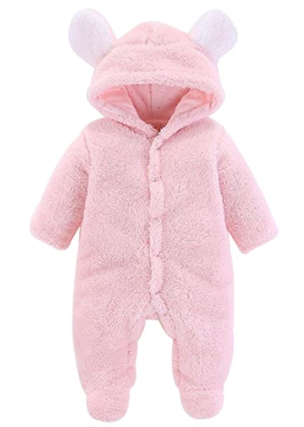 b1137577b SUPEYA Infant Baby Boys Girls 3D Cartoon Bear Fleece One-Piece ...