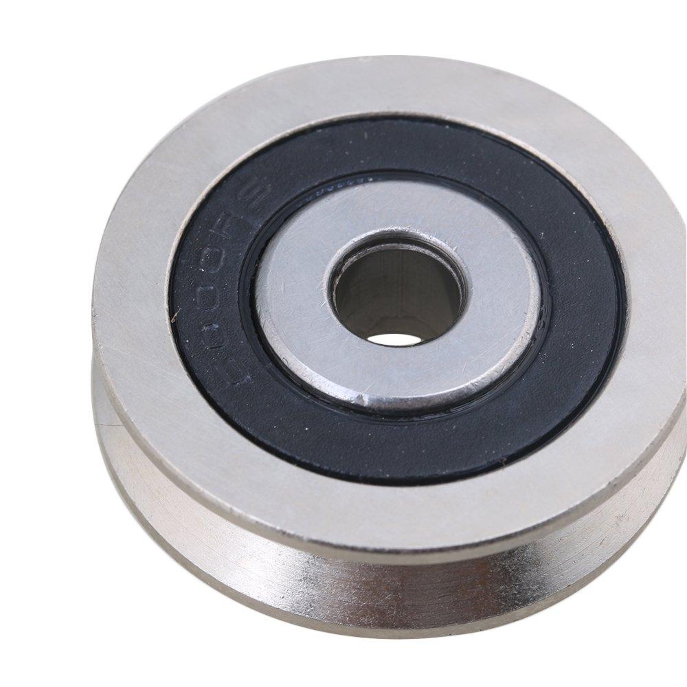 BQLZR ID6xOD30xT8mm 6000RS Cuscinetti a forma di V Guida in acciaio Puleggia per porte Puleggia Confezione da 2