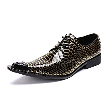Hy Chaussures en Cuir pour Hommes, Chaussures habillées à la