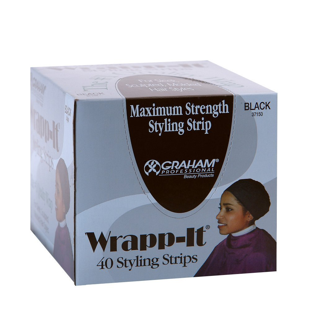 Wrapp-It Black Styling Strips 37150