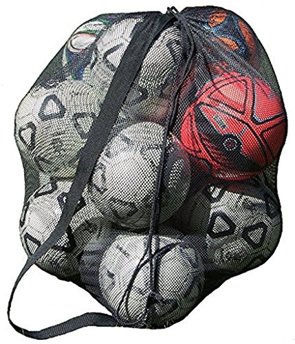 Mesh Ball Bag With Shoulder Strap. 30 x 40 Inches with a Drawstring (Carrier Nylon Mesh)