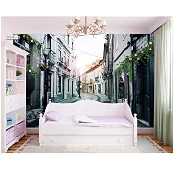 papel tapiz-mural de la calle de la ciudad europea papel tapiz ...