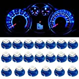 Partsam T5 T4.7 Neo Wedge Instrument Dashboard LED Light Bulbs 12mm 12V 3-SMD A/C Climate Heater Controls Instrument Panel Gauge Cluster Dashboard LED Light Bulbs Set – Blue (Pack of 20)