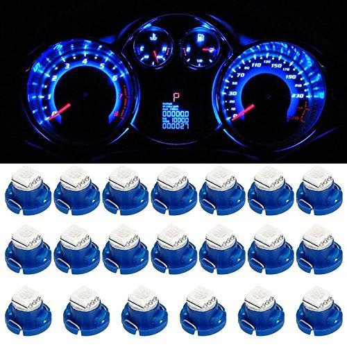 Partsam 20pcs Blue T4.7/T5 Neo Wedge A/C Climate Cluster LED Light Bulb 5050-SMD 12mm