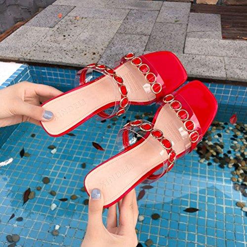 JITIAN Sabot Donna Donna Sabot Sandali JITIAN Sabot Rosso JITIAN Rosso Sandali qrwqxHR6Cz