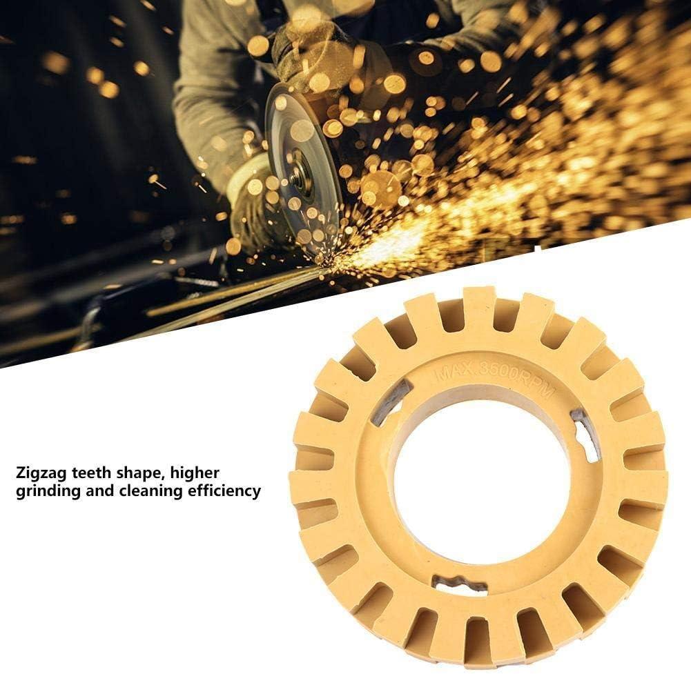 Conkergo 100mm 4in Grinding and Polishing Zigzag Teeth Shape Rubber Wheel Eraser No-Shank