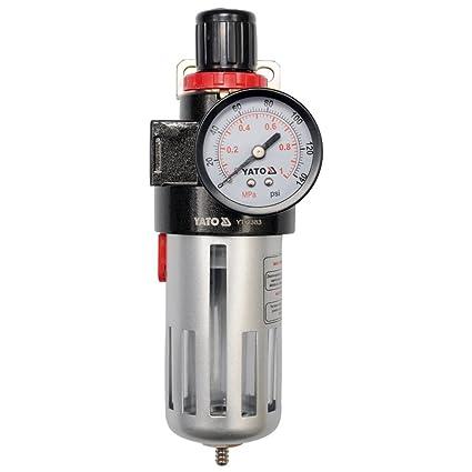 YATO YT-2383 - regulador de aire con manómetro y el filtro de 1/