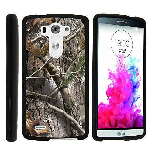 LG G3 Phone Case, Perfect Fit Cell Phone Case Hard Cover with Cute Design Patterns for LG G3 (D850, D851, D855, VS985, LS990, US990) by MINITURTLE - Tree Bark Hunter Camouflage