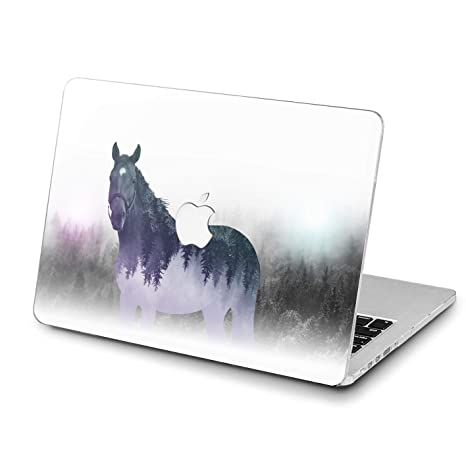 4afa174a57839 Lex Altern Horse MacBook Pro Case 13 15 12 inch Air 11 2017 2018 A1990  A1989 Forest Mac Retina Abstract Cover 2015 Animal Hard White Laptop Apple  2016 ...
