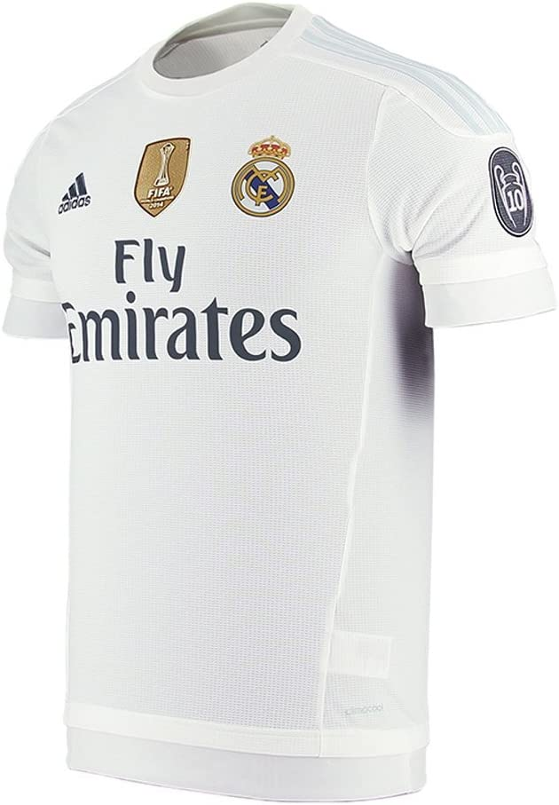 Adidas Real Madrid CF Home Jersey-WHITE (S): Amazon.es: Ropa y accesorios
