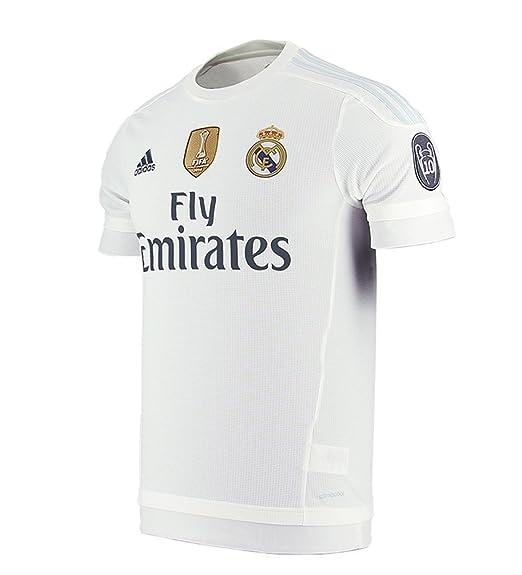Adidas Real Madrid CF Home Jersey-White  Amazon.com.mx  Ropa ... 9348553fc3747
