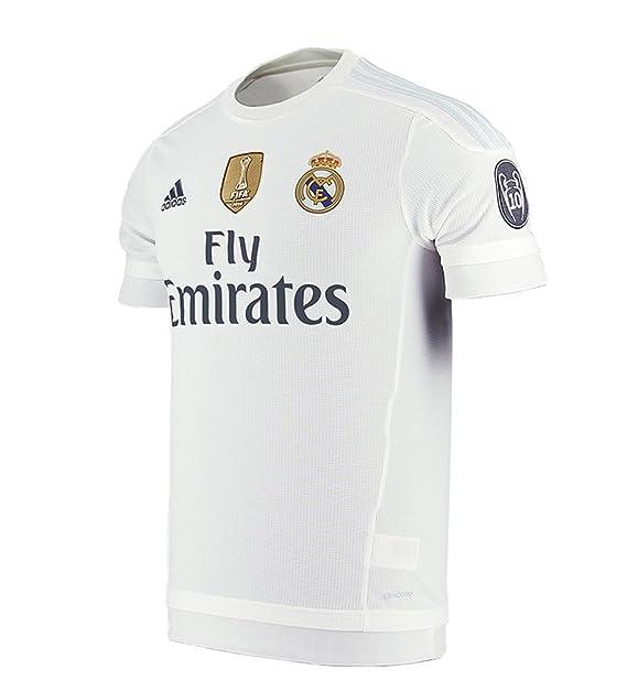 b64e7a8e763b7 Adidas Real Madrid CF Home Jersey-White  Amazon.com.mx  Ropa ...