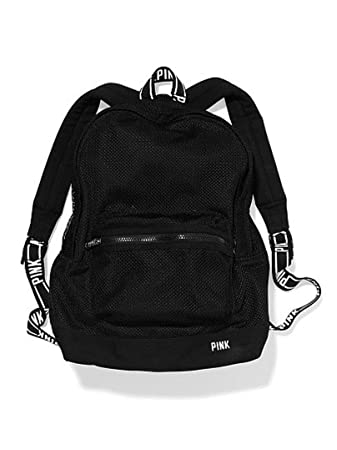 Amazon.com: Victoria Secret Classic Mesh Backpack Black/white By ...