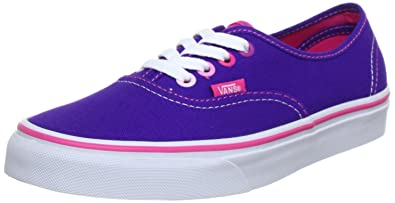 Vans U AUTHENTIC (MULTI POP) HELI - Zapatillas de lona unisex, color rosa, talla 36.5