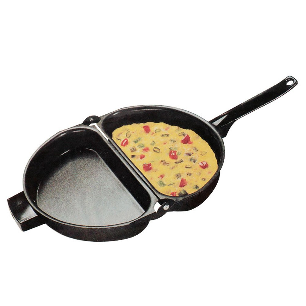 YAH 23.5cm Portable Non-Stick Omelette Folding Pot Frying pan Stainless Iron Double Side Grill Pan Home Breakfast Product