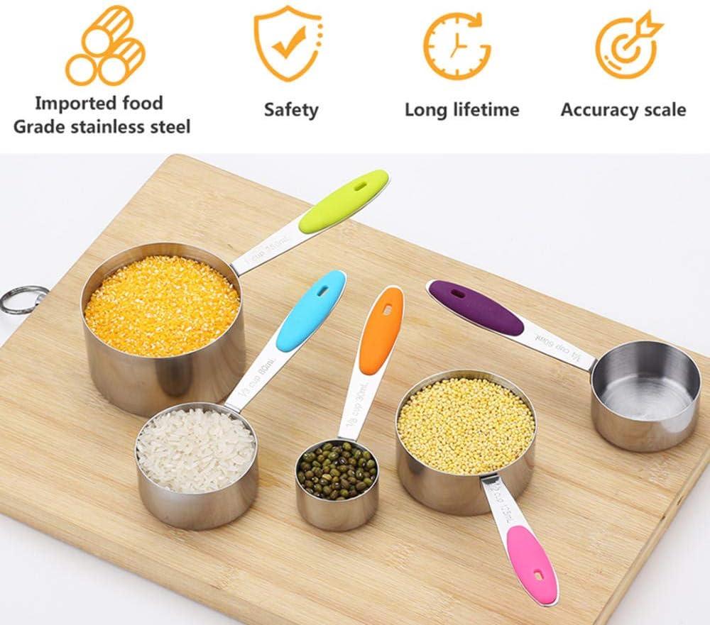 nobrand Messbecher Edelstahl Küche Messlöffel Schaufel zum Backen Tee Kaffee Küchenzubehör Messwerkzeug Set Measuring Spoon