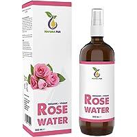 Rozenwater Spray Puur 200 ml - 100% biologisch en veganistisch - Natuurlijk rozenhydrolaat - tonic voor het gezicht…
