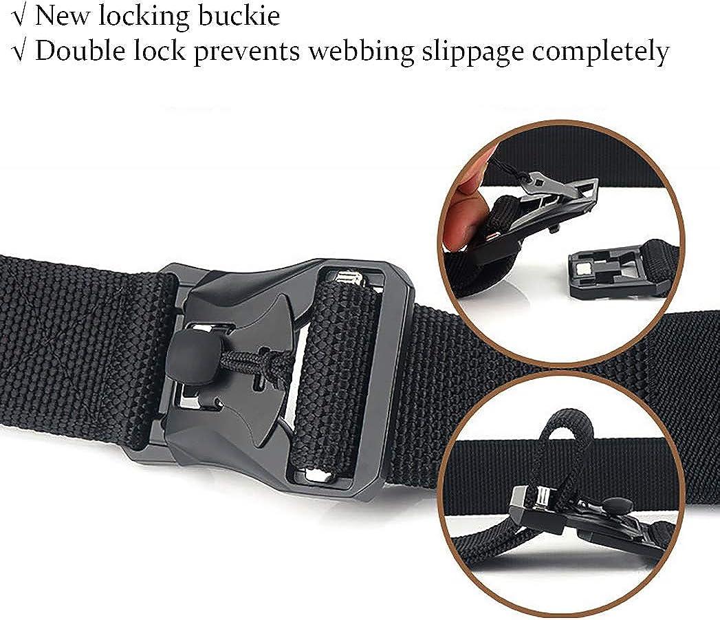 Negro Liberaci/ón R/ápida Cinturon de Estilo Militar con Hebilla STAY GENT Cinturon Tactico para Hombres Heavy Duty Tejido de Nylon Cinturon Trabajo para Al aire libre Actividades y Utilidad P/ública