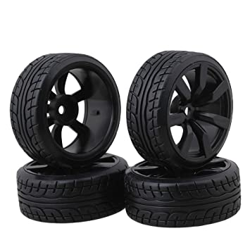 BQLZR Modelo de neumáticos de goma de coche con llantas de rueda de 7 radios Para RC1: 10 Pack de coches de carreras en carretera de 4: Amazon.es: Juguetes ...