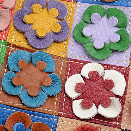 et SOLDES Agneau Femme LES Tressé Cabas Yaluxe Fleurs en Multi Jardin Multicolore Sac losanges Portatif Chouette Doux 78tqwAdt