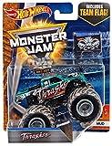 monsters inc 1 toys - 2017 Hot Wheels Monster Jam 1:64 Scale Truck with Team Flag - Thrasher