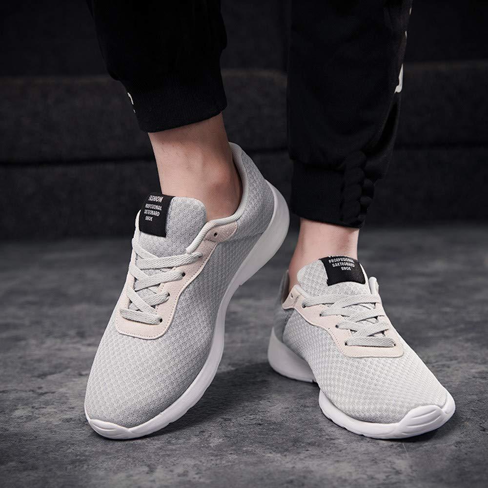 JiaMeng Zapatillas de Correr Hombre de Hechizo Casual Cómodas Calzado Deportivo Zapatos de Malla al Aire Libre con Cordones de Soles cómodos Zapatos: ...