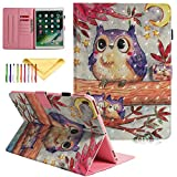 2019 iPad Air 3 Case Kids 10.5 Inch - iPad Pro 10.5 Inch Cover - Cookk 3D Pattern Protective Skin Case with Auto Wake Sleep Stand Wallet Cover for iPad Air 3 10.5