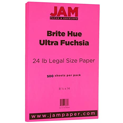 Amazon.com: JAM – Papel reciclado Legal Paper – 8.5