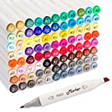 Shuttle Art 88 Colors Dual Tip Art Markers,Permanent Marker Pens Highlighters with Case