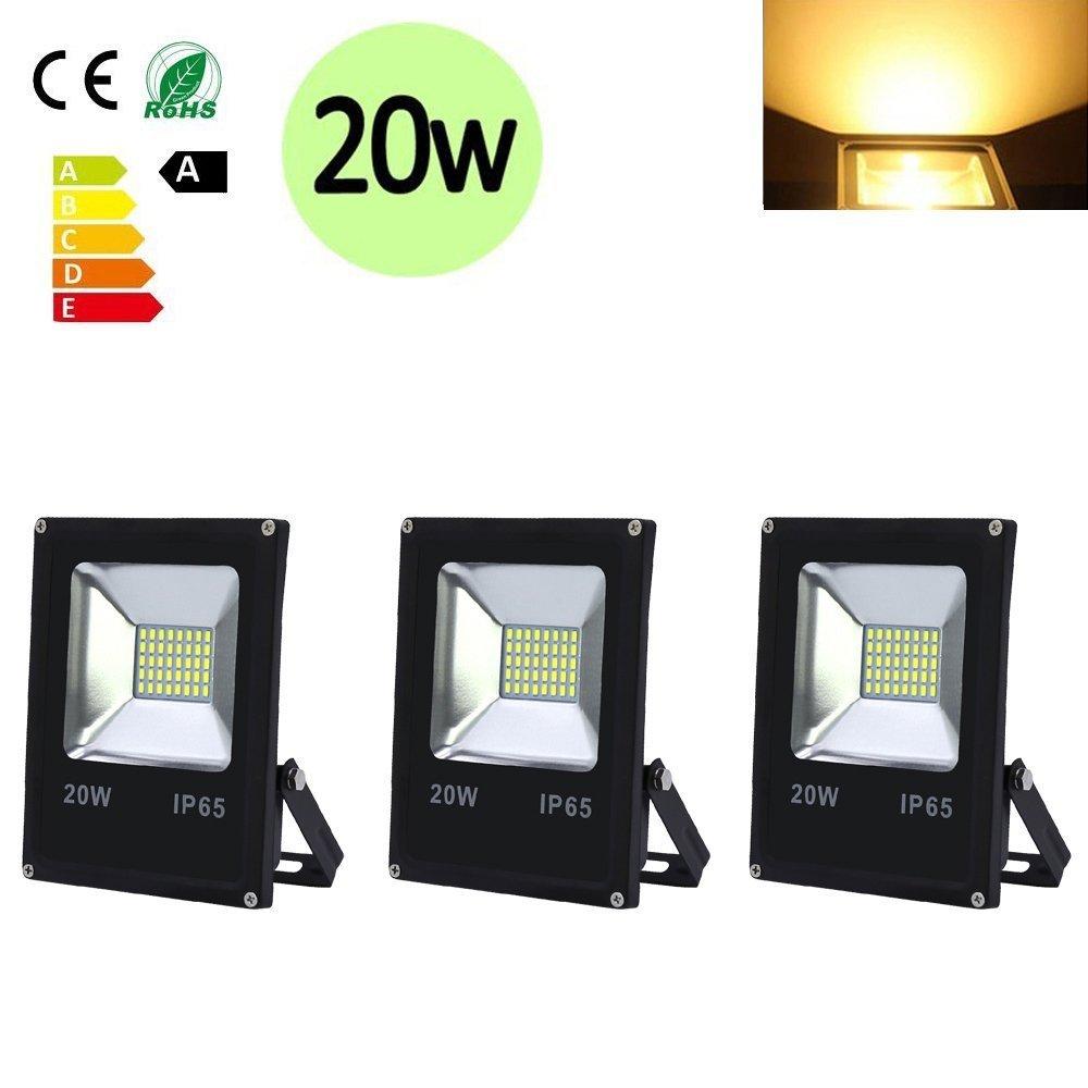 Hengda® Foco LED impermeable IP65 pared Candelabro Foco Iluminación (3x 20w Blanco frío)