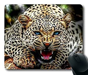 Blue Eyes Leopard Nice POP Masterpiece Limited Design Oblong Mouse Pad by Cases & Mousepads