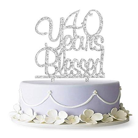 40 Años bendición acrílico decoración para tarta para 40 ...