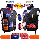 2 Pack Kids Tactical Vest Kit for Nerf War: 'USA vs ISIS', 2 Set Accessories for Nerf Guns N-Strike Elite Series by Hely Cancy