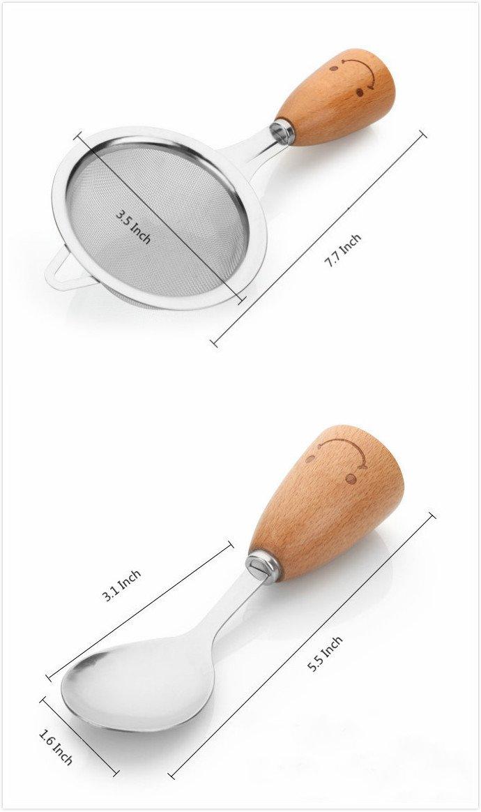 Kitchen Utensil Set - Swivel Peeler, Whisk, Skimmer, Bottle Opener, Serving Spoon, Pizza Cutter, Slotted Turner, Grater, Egg Separator, Toothpick Holder, Spoon, Fork (12 Piece)