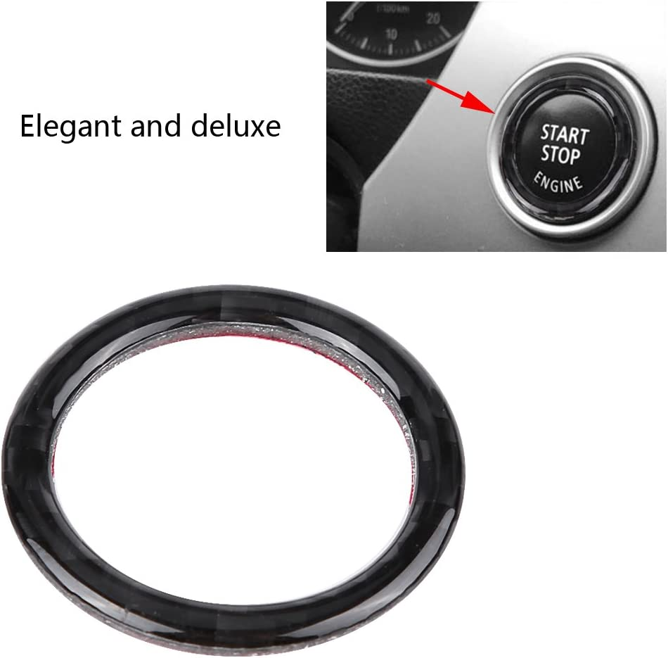 Car Auto Interior Ignition Key Button Ring Stickers Decoration for E90//92//93 2009-2012 2# Car Engine Start Stop Ignition Key Ring