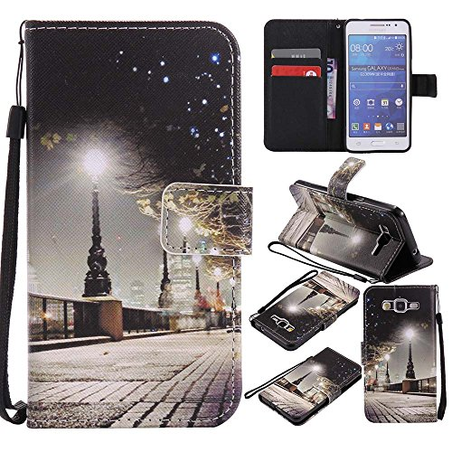 Samsung Galaxy Grand Prime Case, C-Super Mall Quality PU Leather Wallet Stand Flip Case for Samsung Galaxy Grand Prime SM-G530 G530H - Mall City Grand