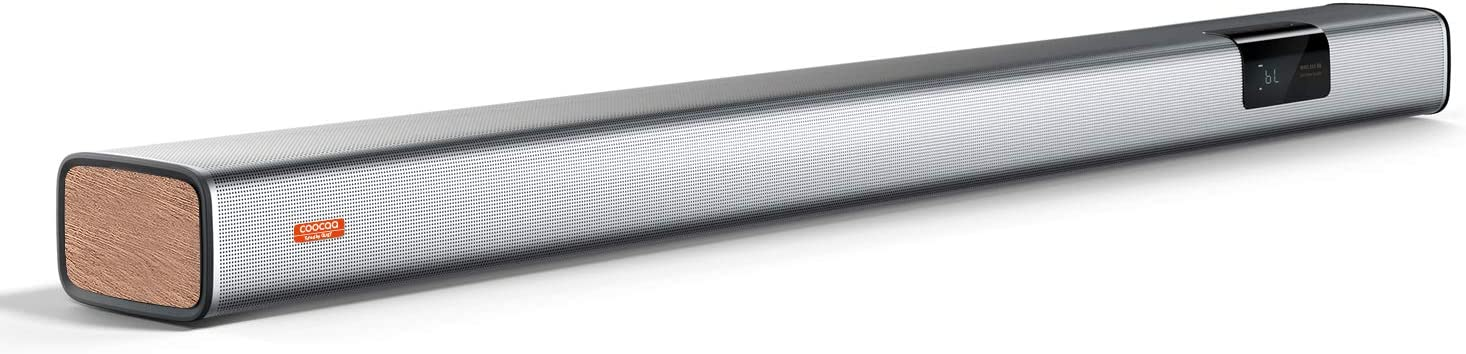 COOCAA Sound Bar - 2.0 Channel Home Theater TV Audio Bluetooth 5.0 Speaker with Three Sound Field Modes and Multiple Connections - Bluetooth, Opt, AUX, USB and ARC