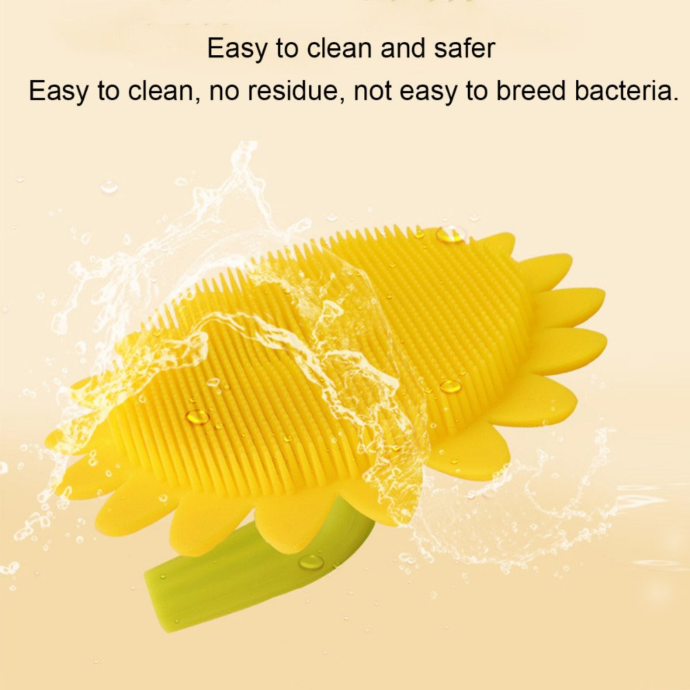 AOXIANG Head Massage Shampoo Brush Sunflower Silicone Creative Baby Baby Clean Bath Daily Care Small Supplies Bath Brush Baby Bath To