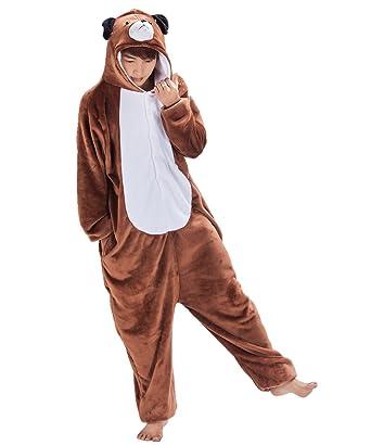 Amazon.com  Japsom Unisex Cosplay Anime Cartoon Sleepwear Kigurumi One-Piece  Pajamas Dog S-XL  Clothing c645b537594d