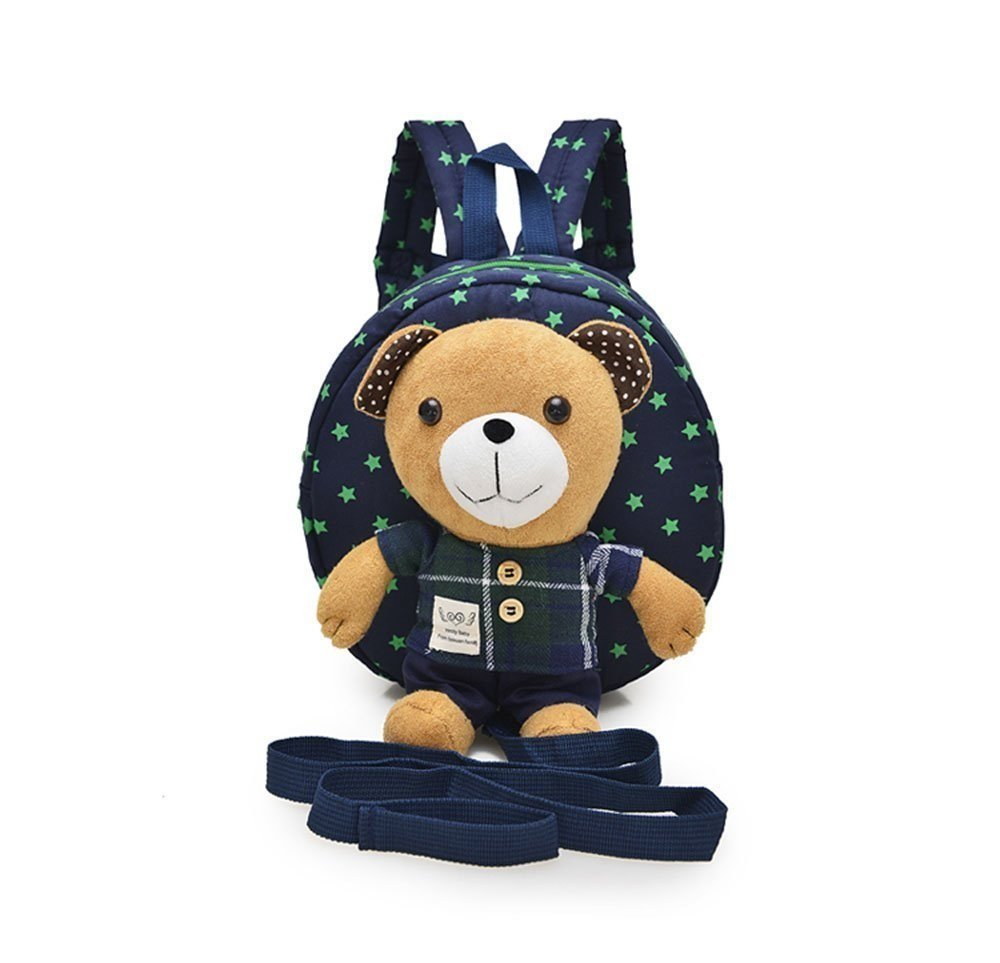 Panlom® Baby Toddler Safety Harness Backpack Lovely Bear With Rein Strap Walker-BLUE Panlom®
