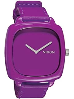 Nixon Womens A167698 Shutter Analog Display Japanese Quartz Purple Watch