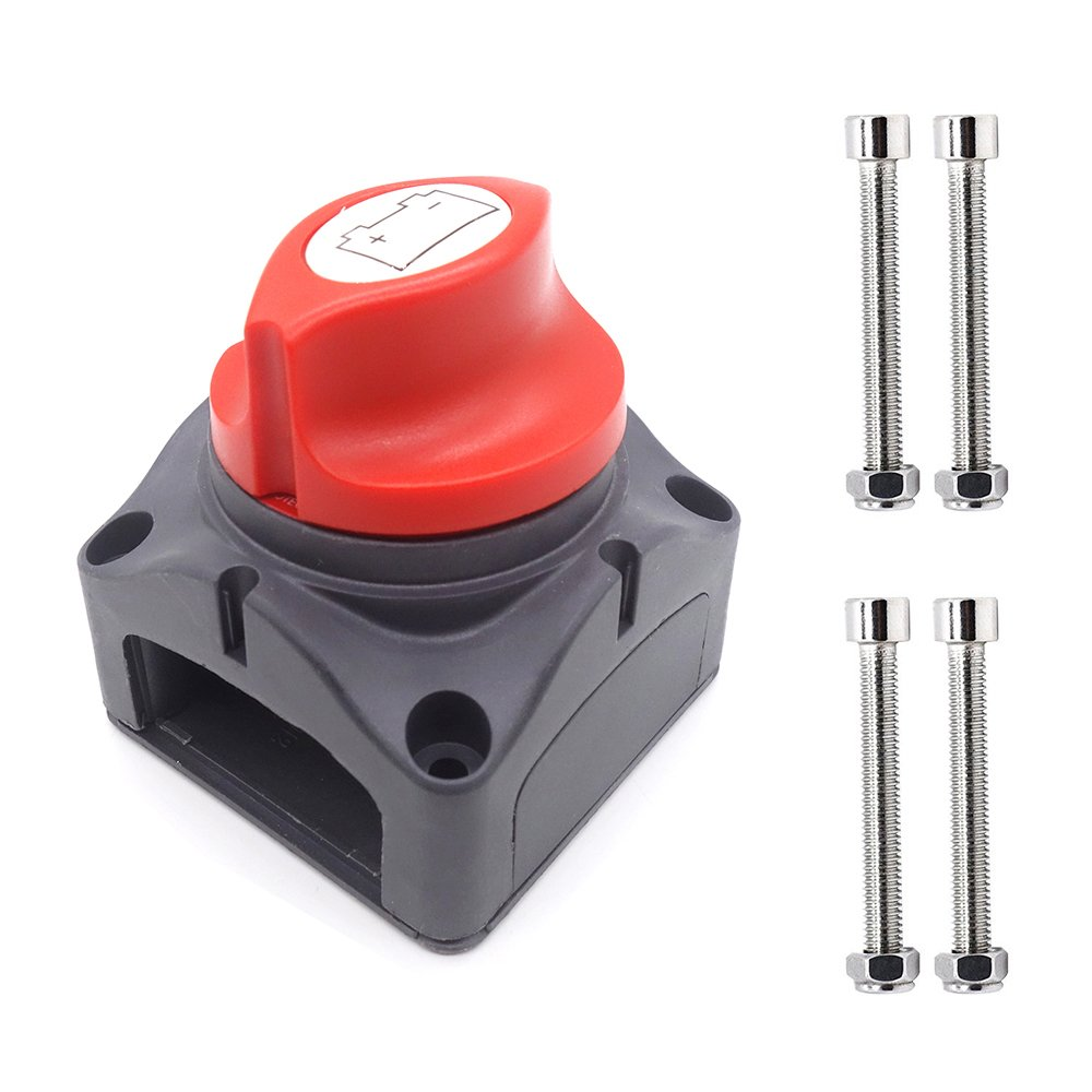 MoPei On/off Switch Boat Battery Disconnect Switch Waterproof Master Isolator for RV Battery Marine Boat Car Vehicles