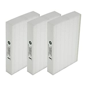 Replacement for Honeywell HEPA R Filter (HRF-R3) (Qty 3)