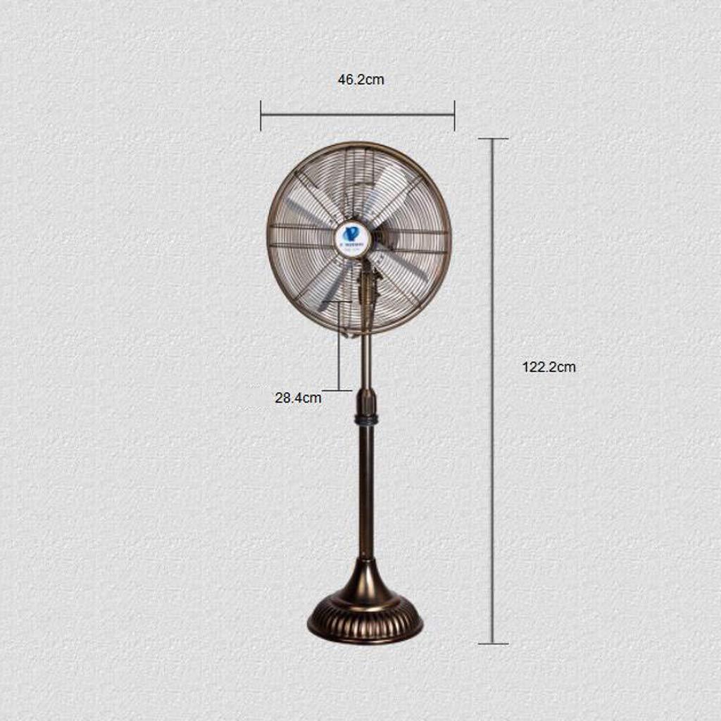 Couleur : Brass 54W ajustement /à 3 vitesses pouvant /être secou/é Ventilateur de sol r/étro en m/étal de 21 pouces