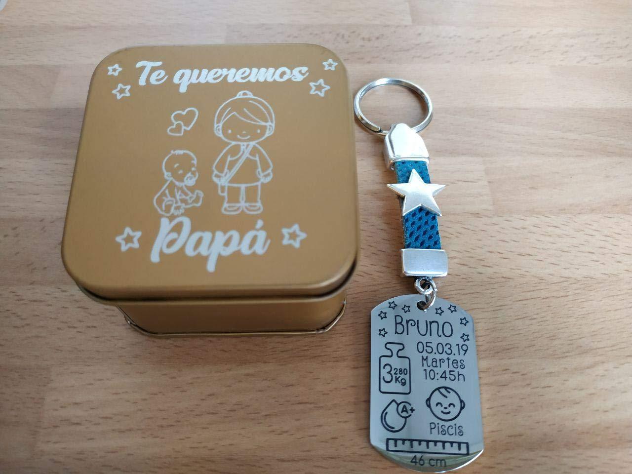 Llavero natalicio HERMANOS personalizado con cajita incluida.: Amazon.es: Handmade