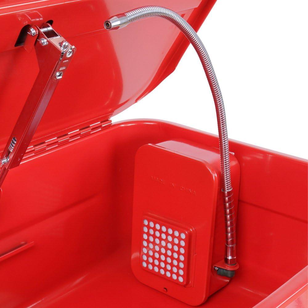 Timbertech Teilewaschgerät 80 Liter Mit 26w Pumpe 12l Min Inkl Pinsel Einlegewaschplatte Ablageboden Max Tragkraft 150 Kg Teilereiniger Waschgerät Werkstatt Waschtisch Teilewäscher Auto