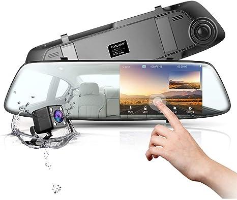 "HD 1080P In-Car Rear View Mirror 4.3/"" Monitor Dash Cam Recorder Camera Dual lens"