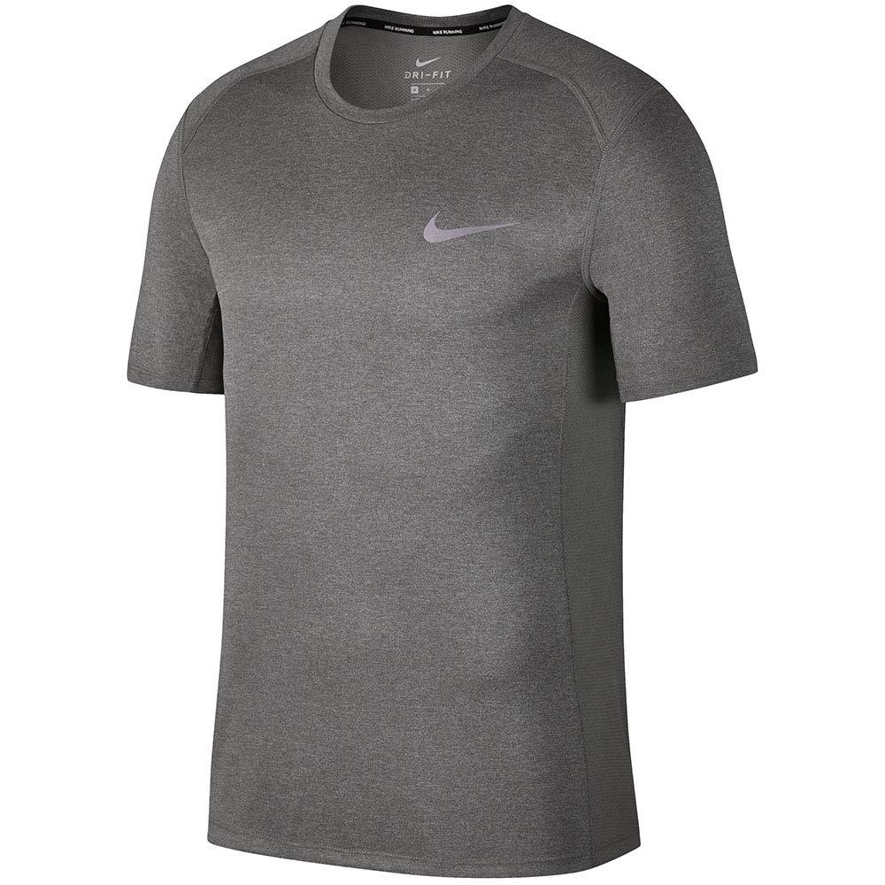 Nike Dry Miler Running Top (Gunsmoke/Grey Heather, S)