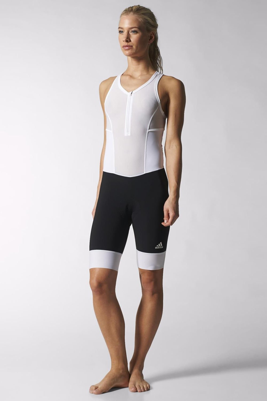 Radhose Adistar Bib Damen white/black Adidas