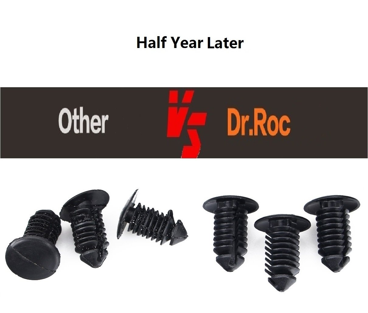 Dr.Roc Replacement for Push Type Retainer Fasteners Rivets Clips w//Fastener Remover Subaru 7mm 8mm 10mm-50PCS-Very Durable POM Polymer SubaruPT001 90914-0007 90913-0067 90914-0051 OEM Upgrade 3 Sizes